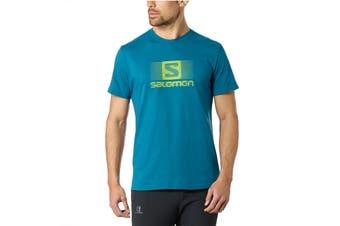 Salomon Blend Logo Short Sleeve Tee Men's (Moroccan Blue, Size Medium)