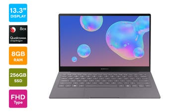 "Samsung Galaxy Book S 13.3"" Laptop (Qualcomm Snapdragon 8cx, 8GB RAM, 256GB, 4G LTE, Earthy Gold) - Australian Model"