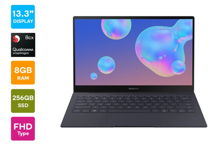 "Samsung Galaxy Book S 13.3"" Laptop (Qualcomm Snapdragon 8cx, 8GB RAM, 256GB, 4G LTE, Mercury Grey) - Australian Model"