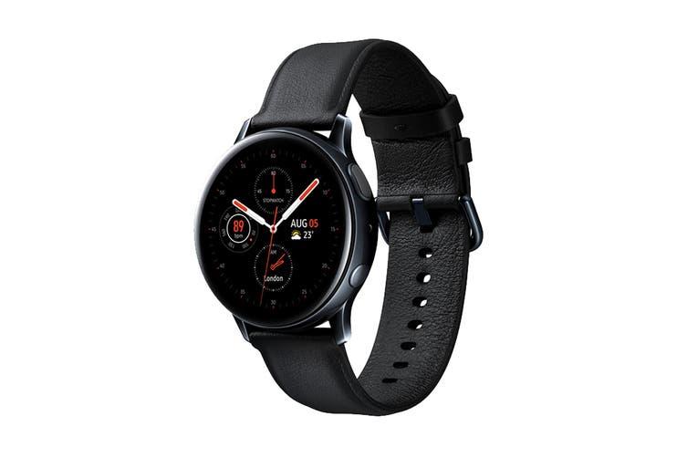 Samsung Galaxy Watch Active 2 R830 - Leather Band (Steel, 40mm, Bluetooth, Black)