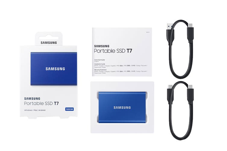 Samsung T7 Portable SSD Drive 500GB (Blue)