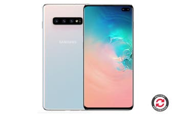 Samsung Galaxy S10+ Refurbished (128GB, Prism White) - A+ Grade