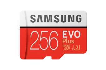 Samsung EVO Plus 256GB MicroSDXC 100Mb/s Class 10 UHS-1 Card (MB-MC256GA/APC)