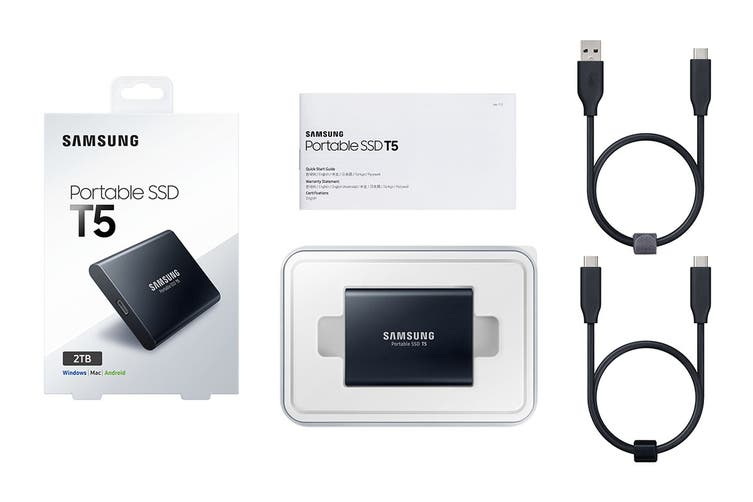 Samsung T5 2TB USB3.1 Type-C Portable SSD (MU-PA2T0B/WW)