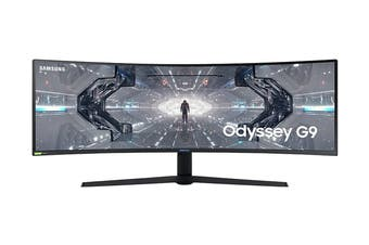 "Samsung Odyssey G9 49"" 32:9 5120x1440 240Hz UWQLED Curved Gaming Monitor (LC49G95TSSEXXY)"