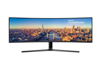 "Samsung 49"" 32:9 3840x1080 Super Ultra Wide Curved Business 144hz LED Monitor (LC49J890DKEXXY)"