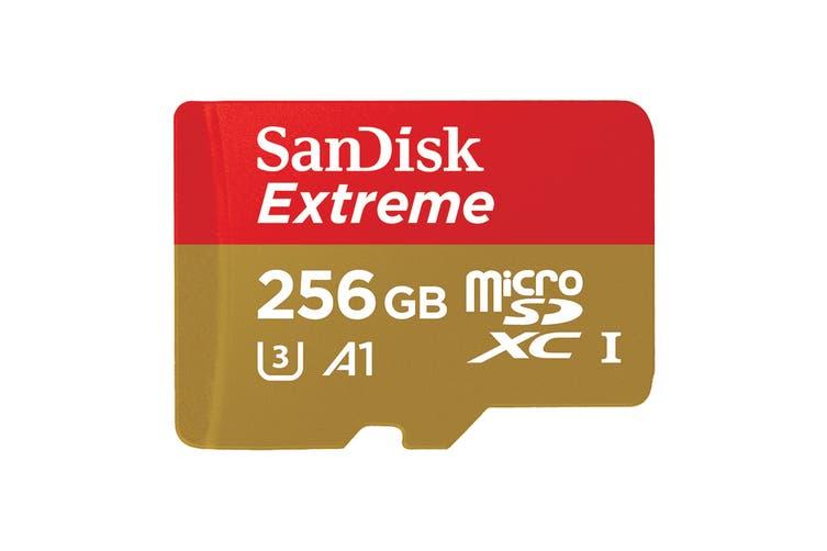SanDisk 256GB Extreme microSDXC 160Mb/s  Class 10 UHS-I SD Card