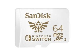 SanDisk 64GB microSDXC 100Mb/s UHS-I Memory Card for Nintendo Switch