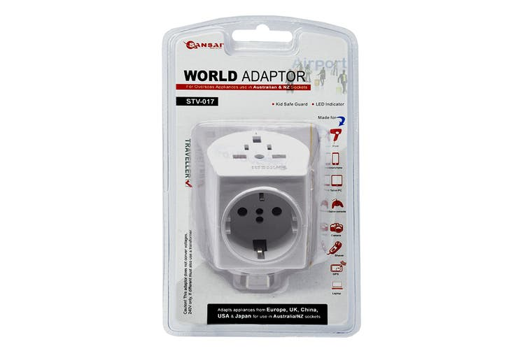 Sansai Universal Travel Adapter - Worldwide to AUS/NZ (STV-017)