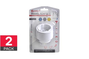2-Pack Sansai Universal Travel Adapter - Worldwide to AUS/NZ (STV-019)