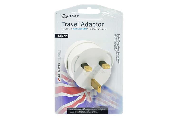 2-Pack Sansai Travel Adapter - UK, Asia, Middle East & Africa (STV-11)