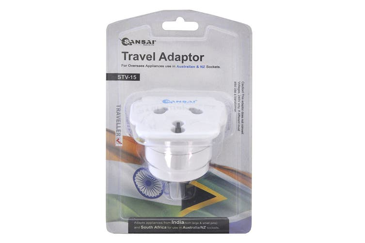 Sansai Universal Travel Adapter - India and South Africa to AUS/NZ (STV-15)