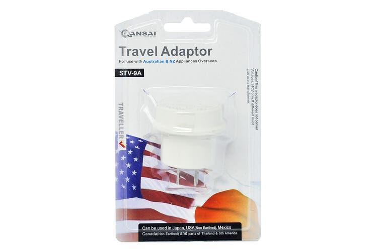 2-Pack Sansai Travel Adapter - Japan, USA, China, Philippines, Canada & More (STV-9A)