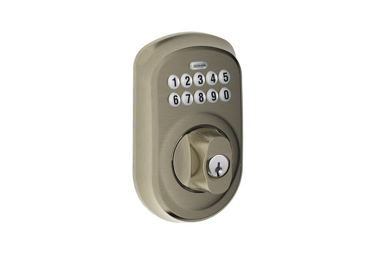 Schlage Keypad Deadbolt with Plymouth Trim (Antique Pewter)