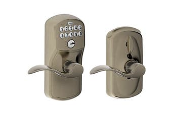 Schlage Keypad Lever with Plymouth Trim and Accent Lever with Flex Lock
