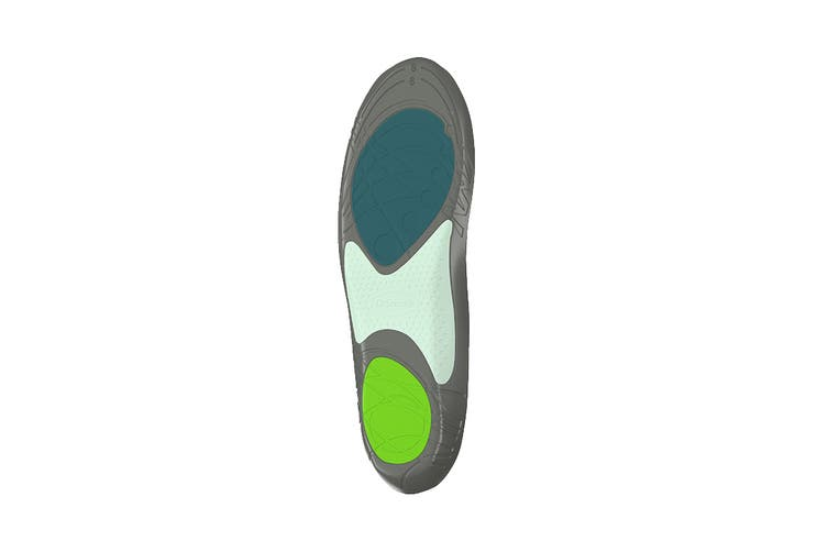 Dr. Scholl's Men's Athletic Series Running Insoles (Green, Size 7.5-10 US)