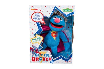 Sesame Street Super Grover Talking Plush