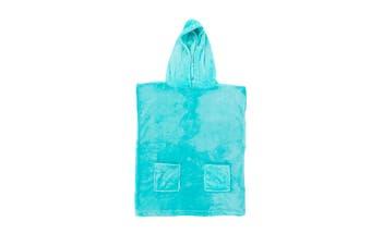 Morrissey Kids Microfibre Hooded Poncho (Aqua)