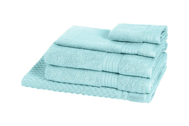 Morrissey Designer Egyptian 5 Piece Towel Pack (Aqua Foam)