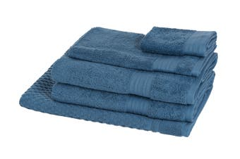 Morrissey Designer Egyptian 5 Piece Towel Pack (Denim)