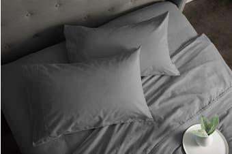 Sheraton Luxury 160gsm Flannelette Sheet Set (Double/Feather Grey)