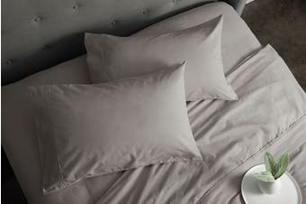 Sheraton Luxury 160gsm Flannelette Sheet Set (Double/Platinum)