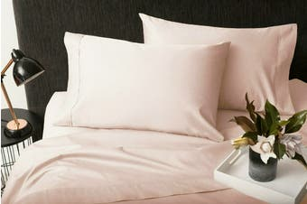 Sheraton 1000TC 100% Cotton Quilt Cover Set - Cotton Dust Pink (Queen)