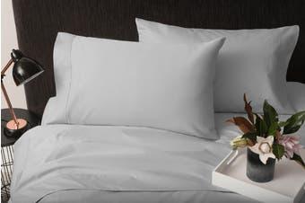 Sheraton 1000TC 100% Cotton Quilt Cover Set - Light Graphite (Queen)