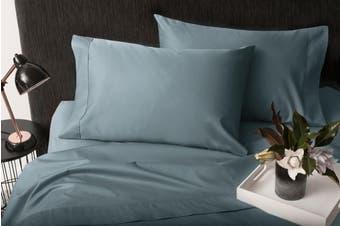 Sheraton 1000TC 100% Cotton Quilt Cover Set - Storm Blue (Queen)