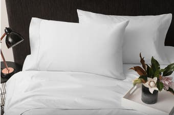 Sheraton 1000TC 100% Cotton Quilt Cover Set - White (Queen)