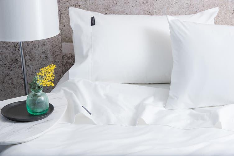 Sheraton Luxury 1200 TC Cotton Rich Sheet Set (Queen, White)