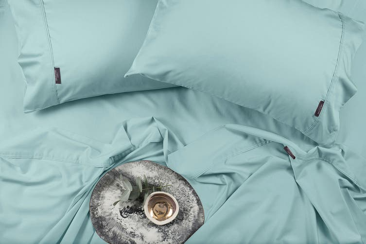 Sheraton Luxury 400TC Bamboo & Cotton Sheet Set (King, Aqua Mint)