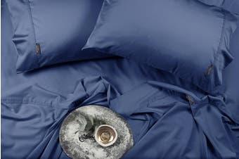 Sheraton Luxury 400TC Bamboo & Cotton Sheet Set (King, Deep Blue)