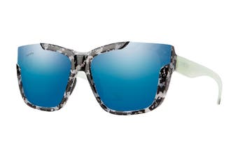 Smith DREAMLINE Sunglasses (Havana Grey Green Red, Size 62-17-140) - Chromapop Blue Mirror