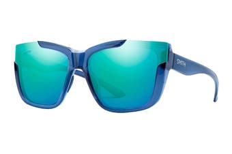 Smith DREAMLINE Sunglasses (Blue Crystal, Size 62-17-140) - Chromapop Blue Saphire Mirror