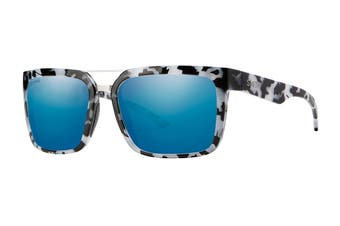 Smith HIGHWIRE Sunglasses (Grey/Black Tortoise, Size 56-18-140) - Chromapop Polarized Blue