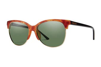 Smith REBEL Sunglasses (Light Havana, Size 58-15-140) - Chromapop Polarized Grey Green
