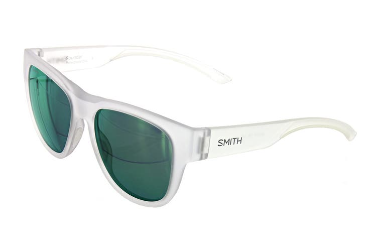 Smith ROUNDER Sunglasses (Matte Crystal, Size 52-17-135) - Green Multilayer Cp Pz
