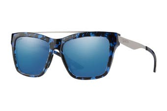 Smith THE Runaround Sunglasses (Blue Havana/Palladium, Size 55-16-140) - Chromapop Blue Mirror