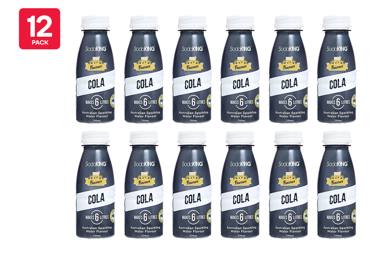 SodaKING Cola Syrup Flavour - 12 Pack of 250ml (614211)