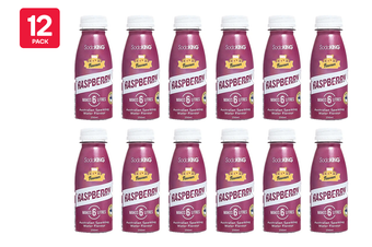 SodaKING Raspberry Syrup Flavour - 12 Pack of 250ml (614235)