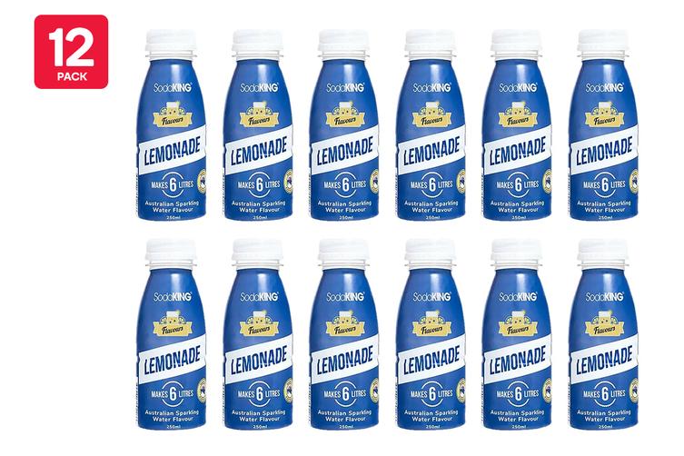 SodaKING Lemonade Syrup Flavour - 12 Pack of 250ml  (614266)