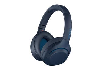 Sony EXTRA BASS Wireless Noise Cancelling Headphones - Blue (WH-XB900N)