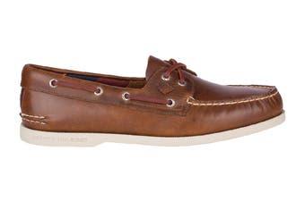 Sperry Men's A/O Plush 2-Eye Shoe (Dark Tan)