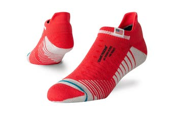 Stance Men's Mission Space Tab Sock (Red, Size M)