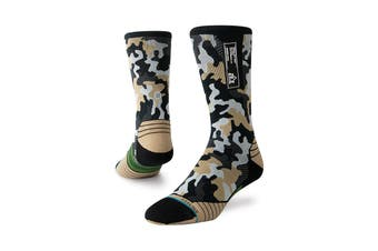 Stance Men's Smoked Camo Crew Sock (Multi, Size L)