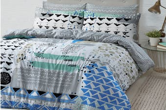 Style & Co 100 % Cotton Reversible Quilt Cover Set (Queen, Sassy)