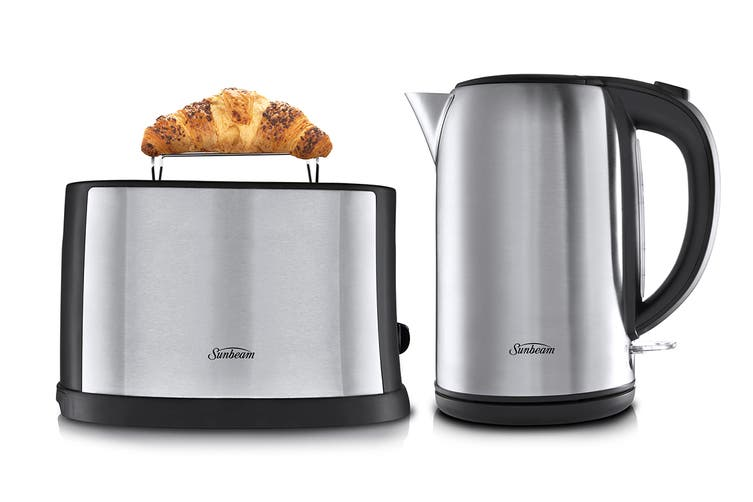 Sunbeam Breakfast Essentials Toaster & Kettle Pack - Stainless Steel (PU5201)