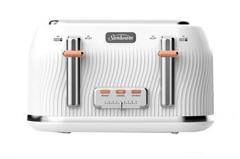 Sunbeam Coastal Collection Toaster 4 Slice - White Sand (TA2540WS)