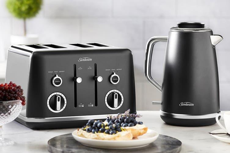 Sunbeam Gallarie Collection 4 Slice Toaster - Black Midnight (TA2640K)